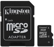 Kingston 4 GB micro SD kaart + adapter
