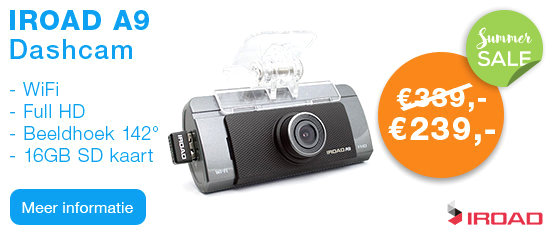 IROAD A9 Full HD WiFi Dashcam 16GB
