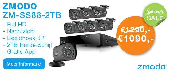 Zmodo ZM-SS88B2B8-S-2TB Full HD 1080P Camerasysteem